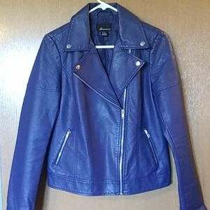 NEW FAUX LEATHER JACKET